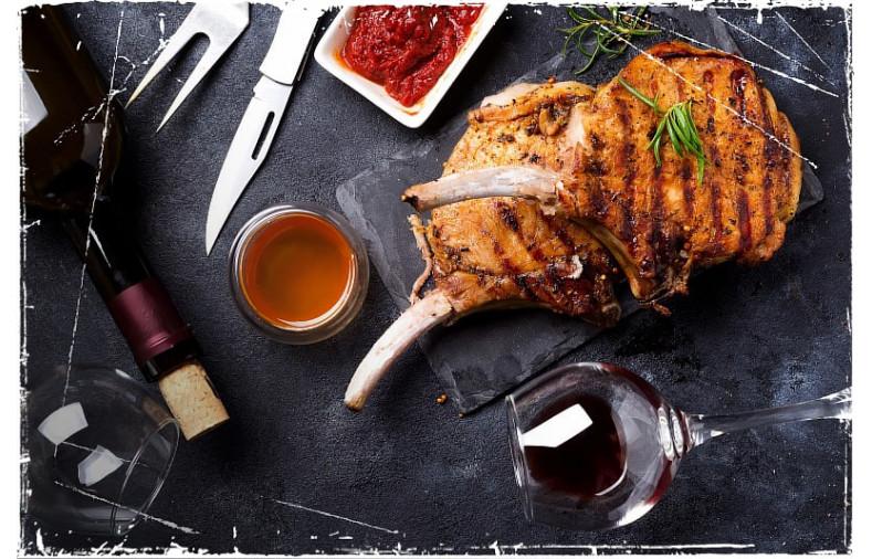 Мясо под вино