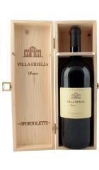 """Вино Sportoletti, """"Villa Fidelia"""" Rosso IGT, 2015, wooden box, 1.5 л"""