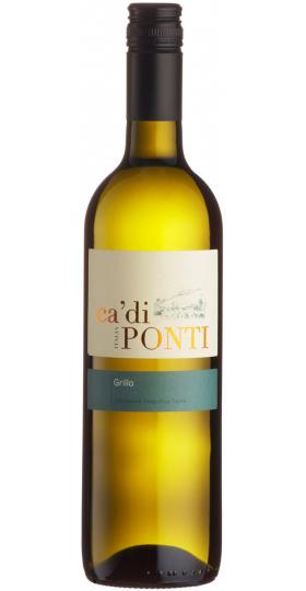 """Вино Araldica Castelvero, """"Ca'di Ponti"""" Grillo, Terre Siciliane IGT, 2019, 0.75 л"""