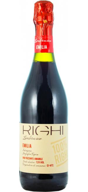 Игристое вино Righi, Lambrusco Rosso, Emilia IGT, 0.75 л