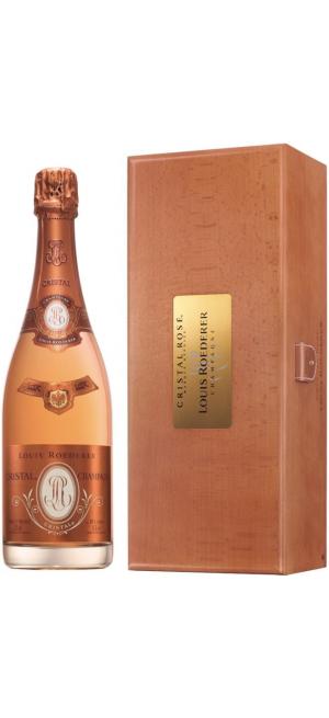 "Шампанское ""Cristal"" Rose AOC, 2008, wooden box, 1.5 л"
