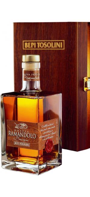 "Граппа Bepi Tosolini, ""Ramandolo"" Barrique, Decanter & wooden box, 0.7 л"