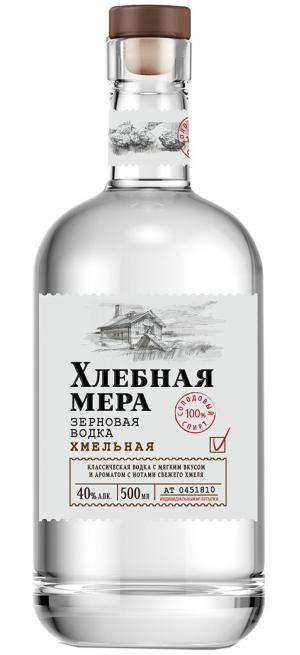 """Водка """"Хлебная Мера"""" Хмельная, 0.5 л"""