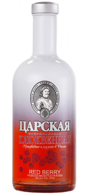"Водка ""Царская"" Оригинальная Клюквенная (Красные ягоды), 0.5 л"