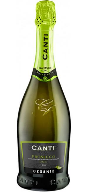 Игристое вино Canti, Prosecco DOC Extra Dry Organic, 2019, 0.75 л