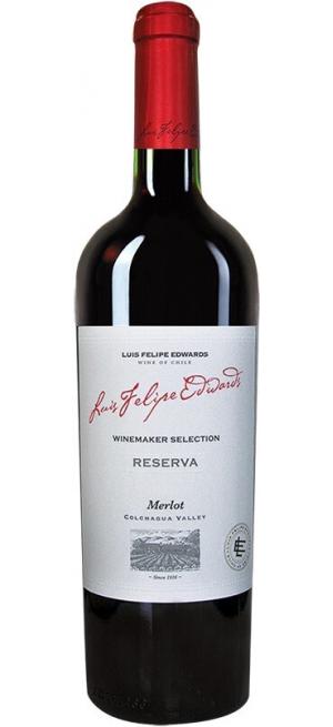 "Вино Luis Felipe Edwards, ""Reserva"" Merlot, 2018, 0.75 л"