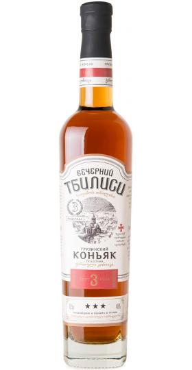 "Коньяк ""Вечерний Тбилиси"" 3-летний, 0.5 л"