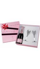 "Набор Lanson, ""Rose Label"" Brut Rose, gift box with 2 glasses"