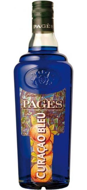 "Ликер ""Pages"" Curacao Bleu, 0.7 л"