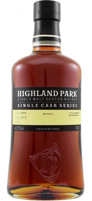 Виски Highland Park, Single Cask 13 Years Old (62,6%), 0.7 л