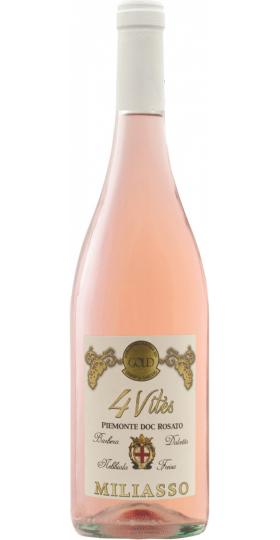 """Вино Angelo Rocca e Figli, """"Miliasso"""" 4 Vites Rosato, Piemonte DOC, 2020, 0.75 л"""