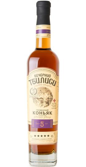 "Коньяк ""Вечерний Тбилиси"" 5-летний, 0.5 л"