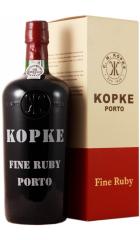 Портвейн Kopke, Fine Ruby Porto, gift box, 0.75 л