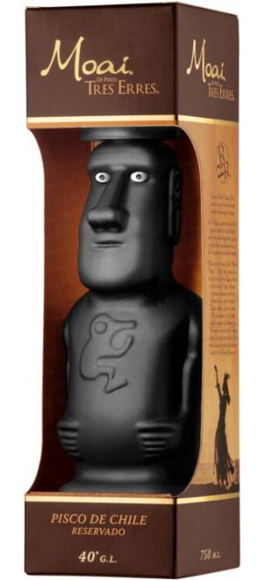 "Водка Pisco ""Tres Erres"" Moai Reservado, gift box, 0.75 л, 0.75 л"