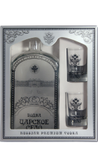 """Водка """"Царское Село"""", в подарочной коробке с 2 стопками, 0.7 л"""