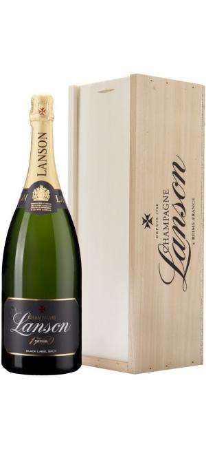 "Шампанское Lanson, ""Black Label"" Brut, gift box, 1.5 л"