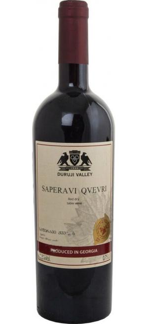 "Вино ""Duruji Valley"" Saperavi Qvevri, 2017, 0.75 л"