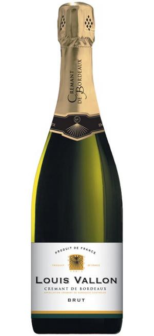 Игристое вино Louis Vallon, Cremant de Bordeaux AOC Brut, 0.75 л