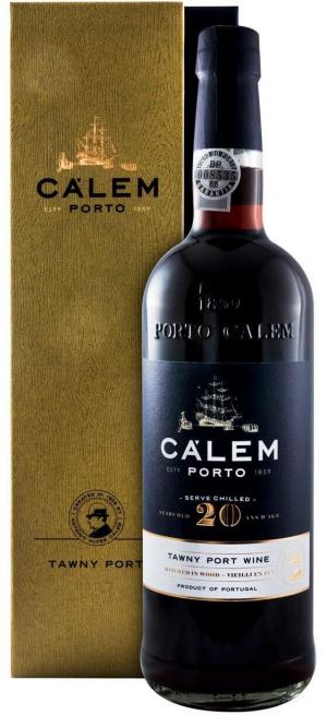 """Портвейн """"Calem"""" 20 Years Old Tawny Porto, gift box, 0.75 л"""