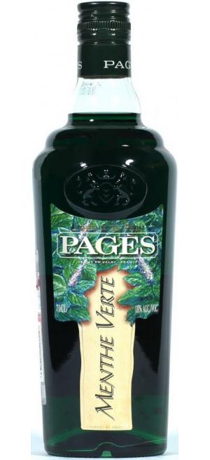 "Ликер ""Pages"" Menthe Verte, 0.7 л"