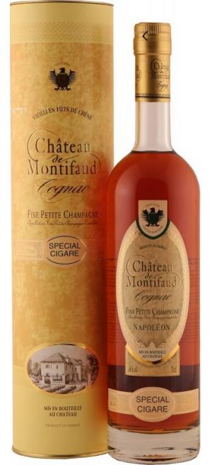 "Коньяк Chateau de Montifaud Napoleon ""Special Sigare"", Fine Petite Champagne AOC, gift tube, 0.7 л"