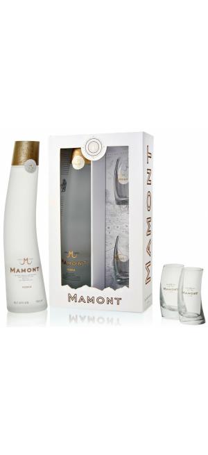 """Набор """"Мамонт"""", в подарочной коробке с двумя стаканами"""