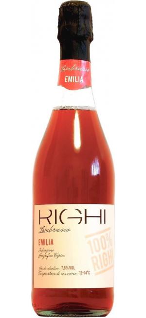 Игристое вино Righi, Lambrusco Rosato, Emilia IGT, 0.75 л