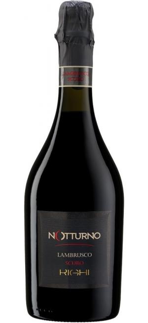 """Игристое вино Righi, """"Notturno"""" Scuro Lambrusco, Emilia IGT, 0.75 л"""