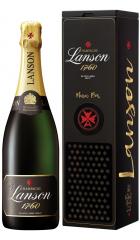 "Шампанское Lanson, ""Black Label"" Brut, gift box ""Music Box"", 0.75 л"