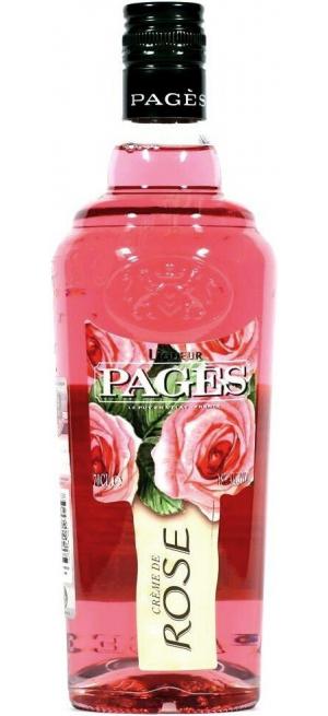 """Ликер """"Pages"""" Creme de Rose, 0.7 л"""
