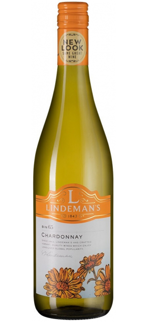 "Вино Lindemans, ""Bin 65"" Chardonnay, 2019, 0.75 л"