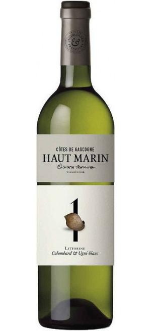 "Вино Haut Marin, ""Littorine"" Colombard & Ugni Blanc, Cotes de Gascogne IGP, 0.75 л"
