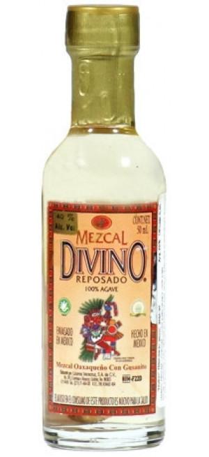 "Мескаль ""Divino"" Mezcal Reposado, with the caterpillar, 50 мл"