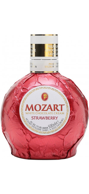 "Ликер ""Mozart"" White Chocolate Cream Strawberry, 0.5 л"