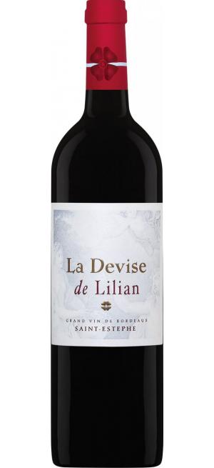"Вино ""La Devise de Lilian"", Saint-Estephe AOC, 2012, 0.75 л"