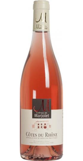 Вино Chateau de Marjolet, Cotes du Rhone AOC Rose, 2019, 0.75 л