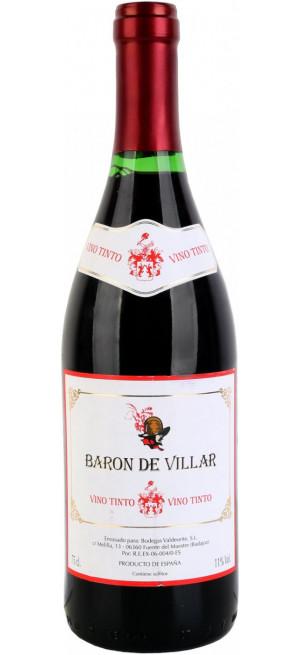 """Вино """"Baron de Villar"""" Tinto Seco, 0.75 л"""