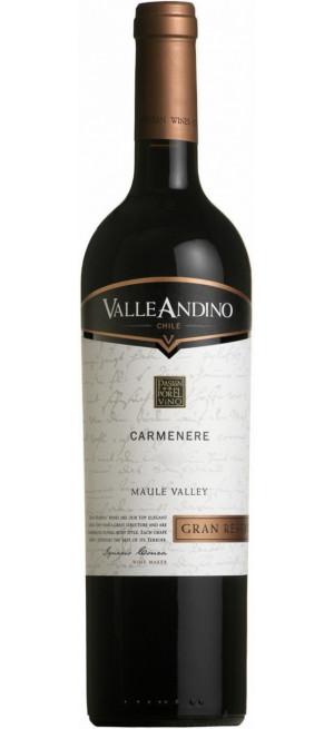 """Вино Valle Andino, Carmenere """"Gran Reserva"""", 2013, 0.75 л"""