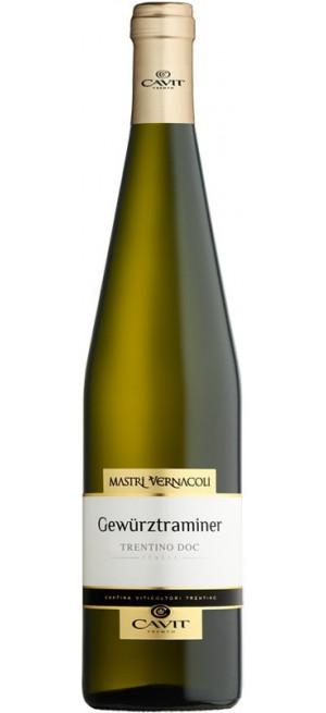"""Вино """"Mastri Vernacoli"""" Gewurztraminer, Trentino DOC, 2019, 0.75 л"""