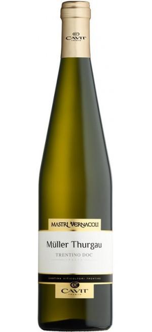 "Вино ""Mastri Vernacoli"" Muller Thurgau, Trentino DOC, 2017, 0.75 л"