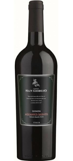 "Вино Cantine San Giorgio, ""Leonida"", Aglianico Salento IGP, 2016, 0.75 л"