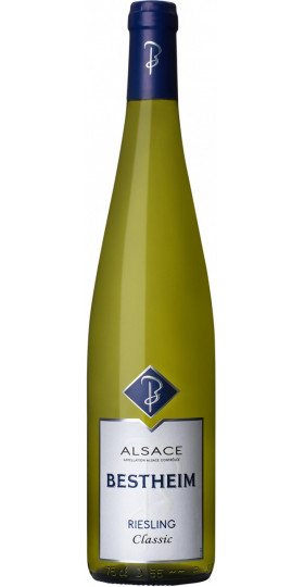 "Вино Bestheim, ""Classic"" Riesling, Alsace AOC, 2018, 0.75 л"
