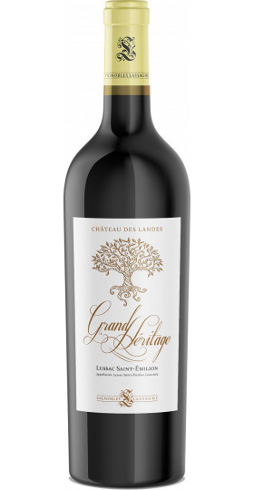 """Вино Chateau des Landes, """"Grand Heritage"""", Lussac Saint-Emilion AOC, 2015, 0.75 л"""