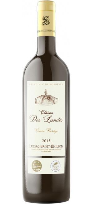 "Вино Chateau des Landes, ""Cuvee Prestige"", Lussac-Saint-Emilion AOC, 2015, 0.75 л"