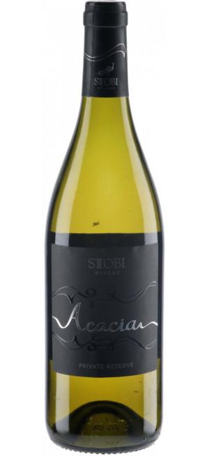 "Вино Stobi, ""Acacia"" Chardonnay Barrique, 2018, 0.75 л"