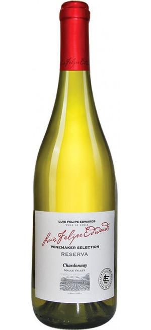 "Вино Luis Felipe Edwards, ""Reserva"" Chardonnay, 2017, 0.75 л"