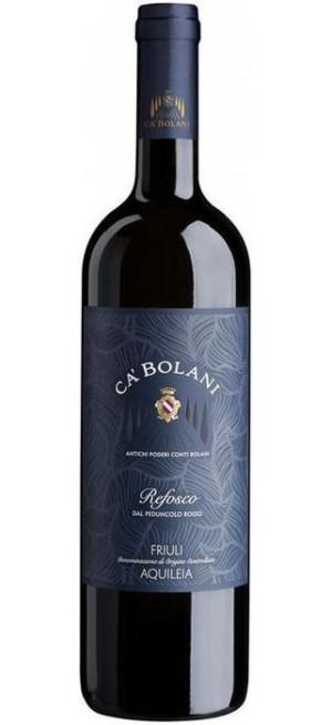 Вино Ca' Bolani Refosco dal Peduncolo Rosso Friuli DOC Aquileia, 2015, 0.75 л