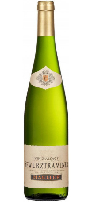 Вино J. Hauller & Fils, Gewurztraminer, Alsace AOC, 2017, 0.75 л