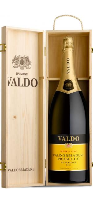 """Игристое вино Valdo, """"Marca Oro"""", Prosecco di Valdobbiadene Superiore DOCG, wooden box, 3 л"""