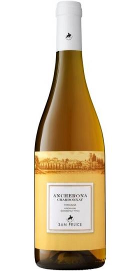 "Вино ""Ancherona"" Chardonnay, Toscana IGT, 2015, 0.75 л"